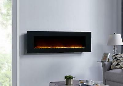 Large 60 inch Wall Mount Electric Fireplace Remote Color Cha