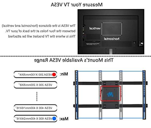 Mounting MD2126-24 Wall Mount Full Arms for most 42-70'' LCD, OLED and screen TVs VESA x 400mm and 16-24''