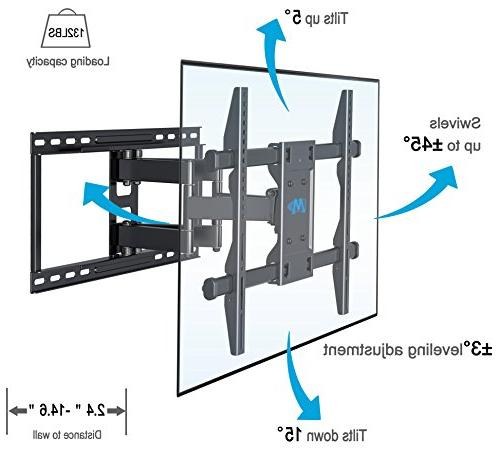 Mounting Dream MD2126-24 TV Wall Mount Full for most LCD, OLED Flat screen VESA 600 x and 100 lbs. 16-24'' Studs Apart