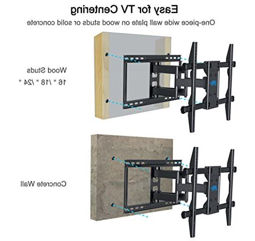 Mounting Dream TV Full Motion for most LED, LCD, OLED screen TVs VESA 400mm and 16-24'' Wood