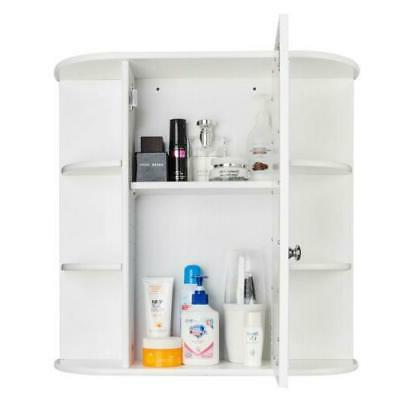 NEW Bathroom Wall Mounted Storage Cabinet Organizer With Door