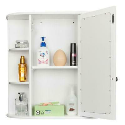 NEW Wall Mounted Storage Cabinet With Mirror Door