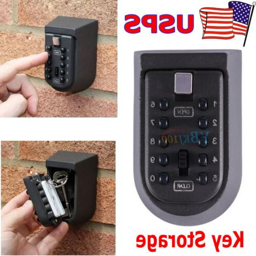 10 Digit Combination Hide Key Lock Box Storage Wall Mount Se