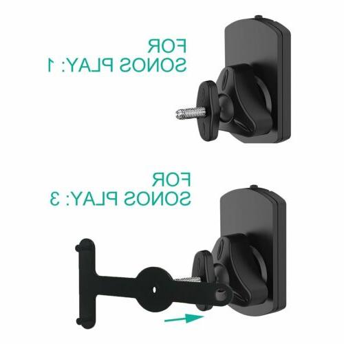 WALI SONOS Wall Mount Brackets Play 1and Play Multiple Hold