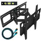 TV Articulating FULL MOTION Dual Arm Wall Mount Bracket Up t