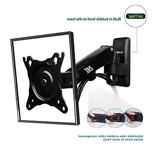 North Bayou Wall Mount Bracket Full Motion Articulating Swivel 17-27 Inch Display Monitor with Gas