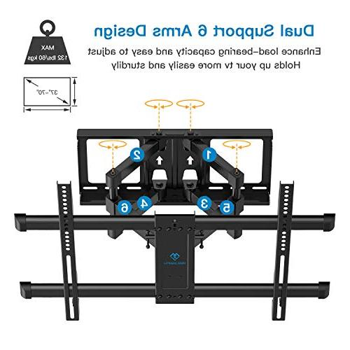 Full Motion TV Wall Mount to for Most 37-70 inch TV Tilt, fit for OLED 600x400mm