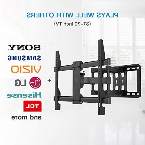 Full Wall Mount 6 Arms Bears 37-70 Tilt, fit for OLED Screen TV, 600x400mm