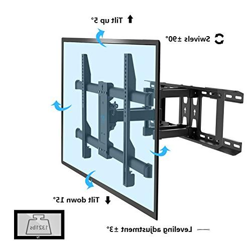"Motion Fits 16"", 24"" Wood Articulating Swivel Mount Most LCD, OLED, PERLESMITH"