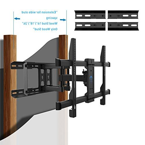 "TV Wall Mount Motion Fits 16"", Swivel Mount for Most Inch LCD, OLED, Flat Screen, Plasma TVs 132lbs, VESA PERLESMITH"
