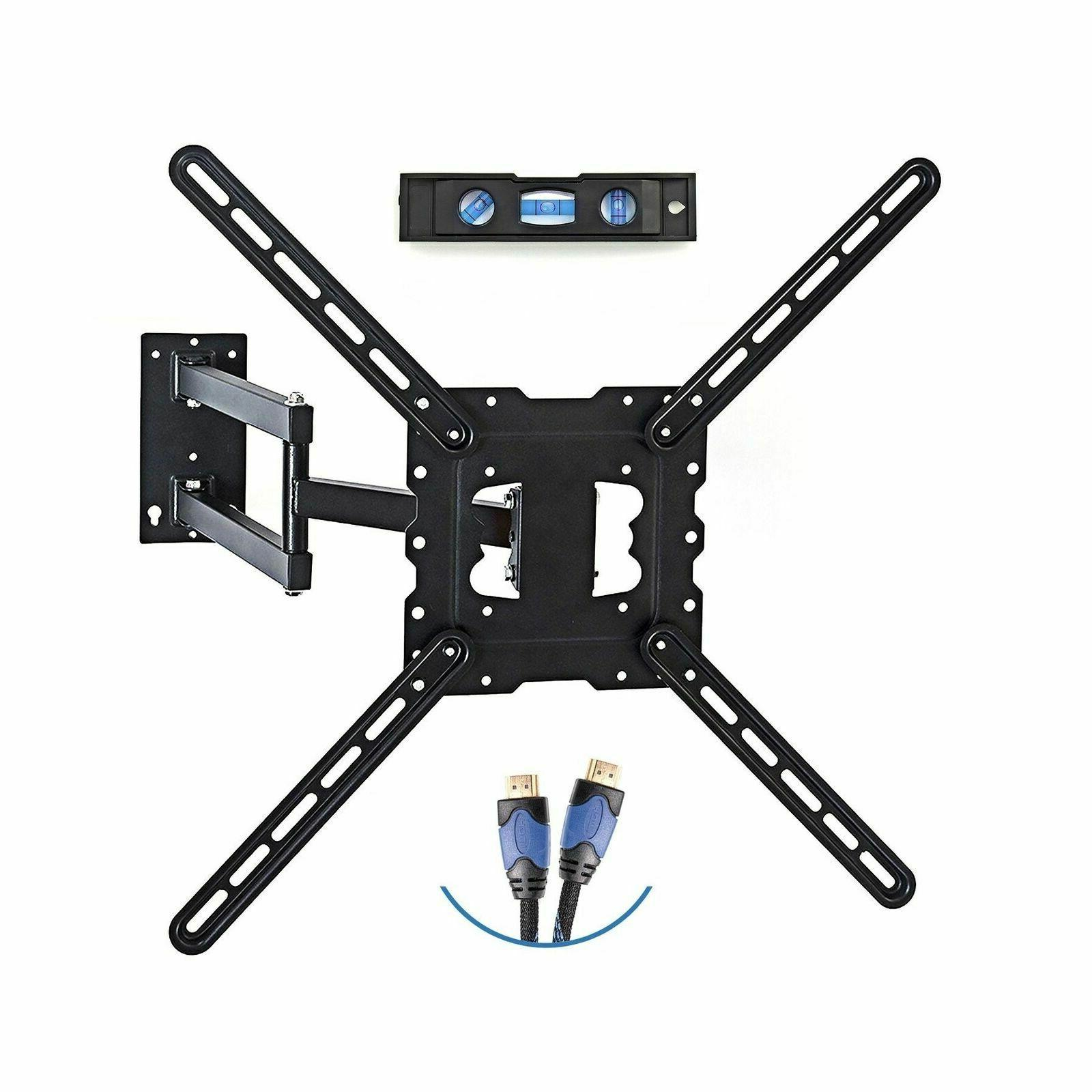 """TV Wall Mount Most 19""""-55"""" Up 66 lbs. Arm, VESA 400x400, Cable And"""