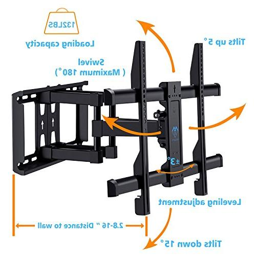 """for 37""""-70"""" Full Motion Articulating Arm - Holds up lbs and - Plasma Flat Screen TV PERLESMITH"""