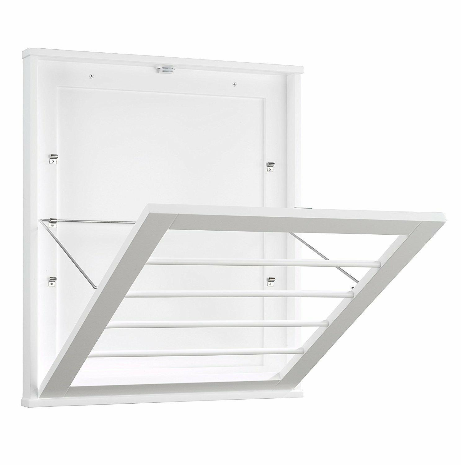wall mounted drying rack white