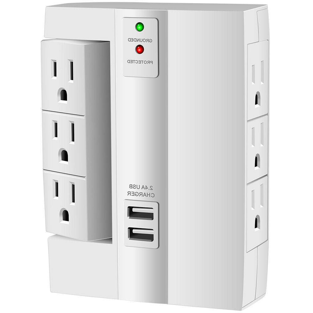 Wall Tap Surge Protector Wall-Mount Socket Power Surge Prote