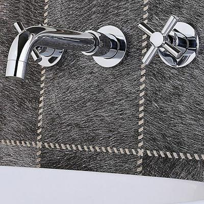 Widespread Double Handle Faucet Bathroom Tub Mount Polished