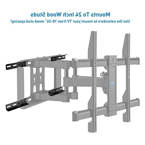 18-24 Stud Extension 16 Inch Wall of Full Motion Wall Mount-PSLFK1, Loading Solid Extender and Installation