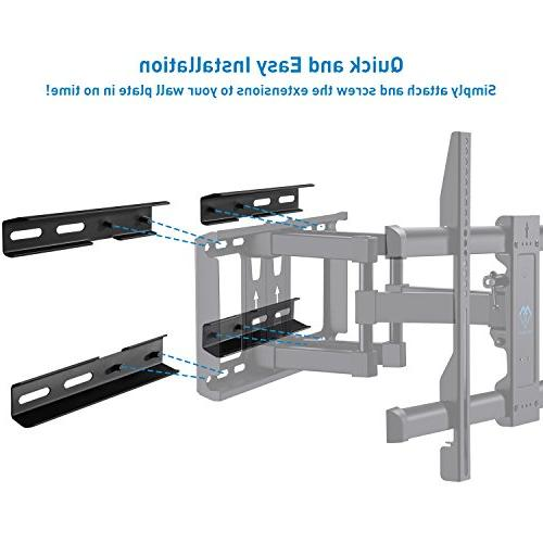 18-24 Wood Extension Bracket ONLY 16 Inch Wall of Motion Wall Max Loading Capacity 132 Solid Steel Extender and