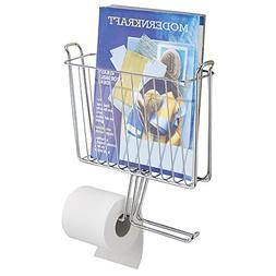 mDesign Decorative Bathroom Wall Mounted Wire Metal Newspape