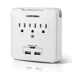 Multi Outlets Wall Mount Adapter Surge Protector Charging St