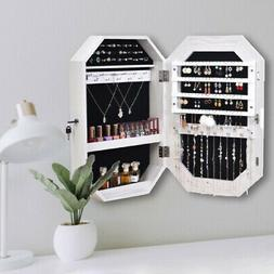 New Full Mirror Jewerly Cabinet Armoire Cosmetic Storage Box