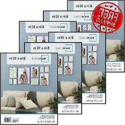 Picture Frame Wall Mount 8x10 Format SET OF 6 Pieces Front-L