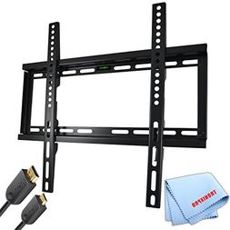 "Low Profile Flat Screen TV Wall Mount for 23""-56"" TVs + Gold"