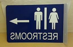 Restroom Wall Mount Arrow Right Directional Business Sign Me
