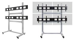 2x2 Rolling Video Wall Mount Cart Display with Micro Adjustm