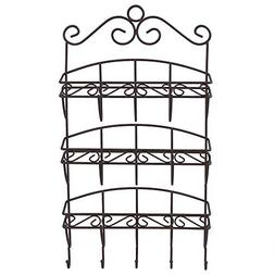 Home Basics Scroll Collection 3 Tier Steel Letter Rack Organ