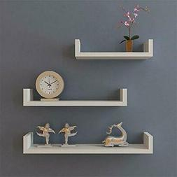 Set of 3 Floating Shelves Bookshelf Wall Mount Shelf Display