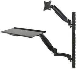 VIVO Sit-Stand Wall Mount Counterbalance Adjustable Monitor