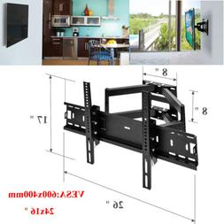 TV Wall Mount Full Motion Tilt Swivel For 19 20 24 27 32 34