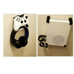 Wall mount brackets for XBOX ONE S with Headset/controller m