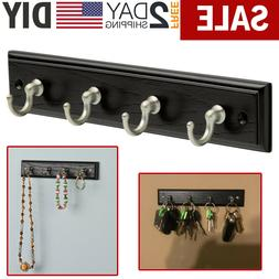 Wall Mount Key Rack Hanger Holder 4 Hook Chain Storage Keys