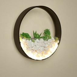 Wall Mount LED Light Lamp Indoor Round Metal Sconce Home Liv