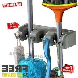 Wall Mount Mop & Broom Holder Cleaning Tool Rack Organizer H
