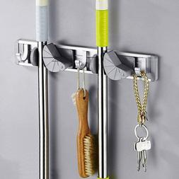 Wall Mount Mop Holder Hanger Hooks Kitchen Brush Broom Stora