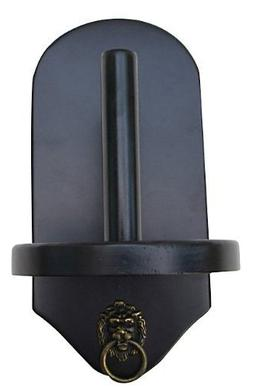 Wall Mount Pool Table Cone Chalk Holder, Black Finish