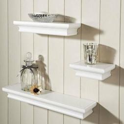 Wall Mount Shelf Set Of 3 Floating Display Storage Home Deco