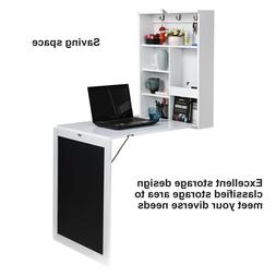 Wall Mount Writing Table Folding Computer Desk Convertible w