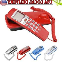 Wall Mounted Corded Telephone Landline Phone With Caller ID