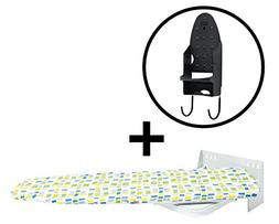 Wall-Mounted Ironing Board - Additional Iron Rest - Durable,